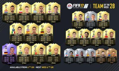 Роналду, Неймар и особенный Подольски в 28-й команде недели FIFA 17