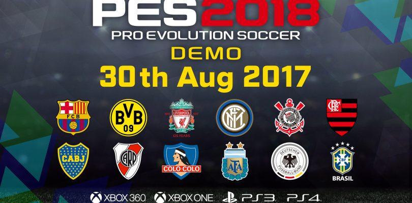 Демоверсия Pro Evolution Soccer 2018 стала доступна для скачивания