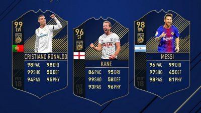 Роналду, Кейн и Месси – нападающие команды года FIFA 18