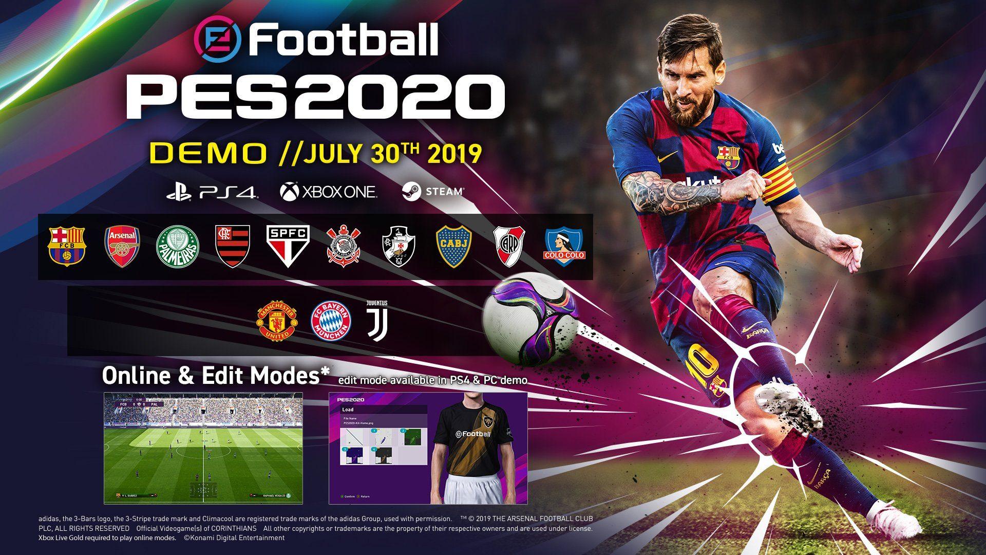 Konami показала обложку PES 2020 и объявила о выходе демоверсии игры